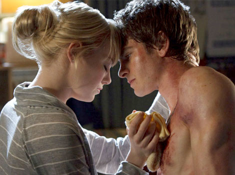 Peter Parker and Gwen Stacy in The Amazing Spider-Man