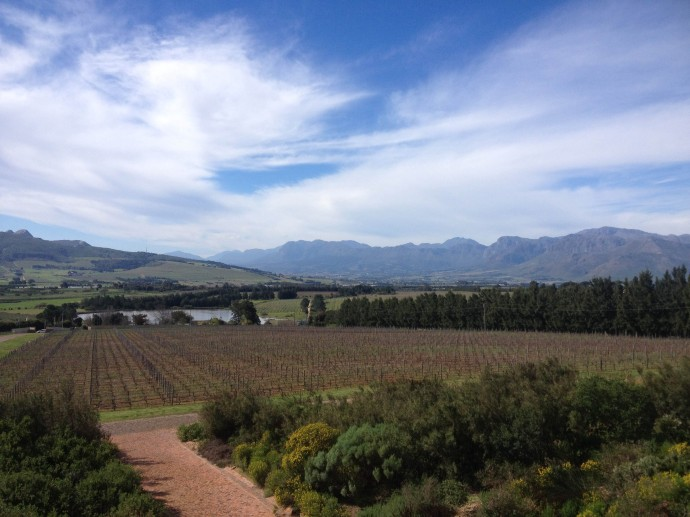 Glen Carlou wine estate offers magnificent views onto Paarl (home of KWV)